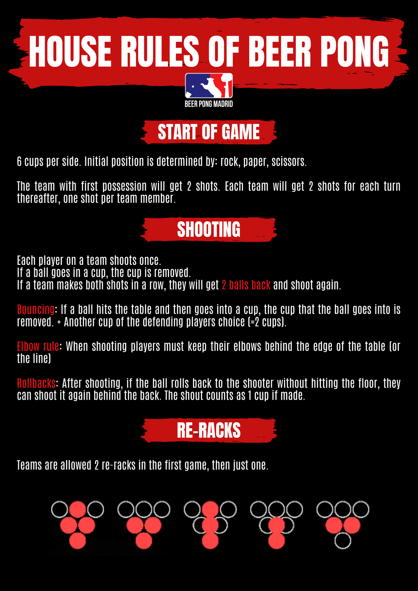 House Rules Of Beer Pong Beerpong Madrid